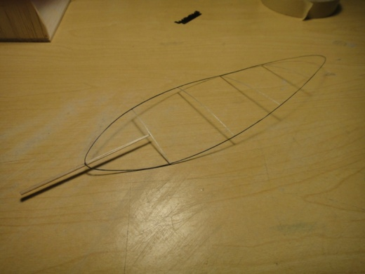 Figure 19 - Blade prior to covering. Note the finished spar is shorter than the one shown