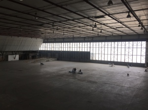 Hangar doors on SE side of the building